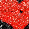 Immagine piccolo Disegno di grande cuore rosso con dentro piccolo cuore nero