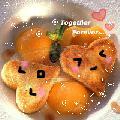 Immagine sorridente Dolci biscottini a forma di cuore con disegno di viso sorridente
