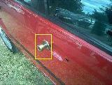 Maniglia per porta montata su portiera auto