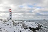 Immagine faro Paesaggio invernale romantico con bellissimo faro