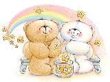 Immagine bene Teneri orsetti che si vogliono bene disegnati