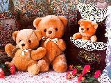 Immagine stanza Tre orsacchiotti magnifici in una bella stanza